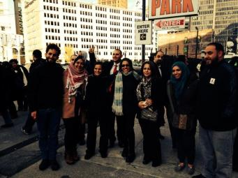 Rasmea & her supporters, Detroit Nov 2014. Mark Mondalek